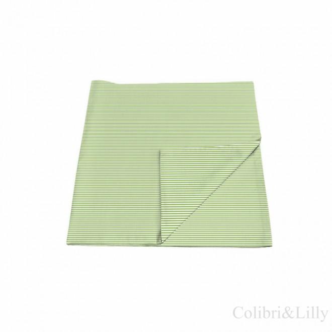 Наволочка в кроватку (цвет: зеленая полоска)
