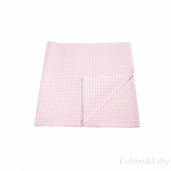 Наволочка в кроватку (цвет: розовая клетка)