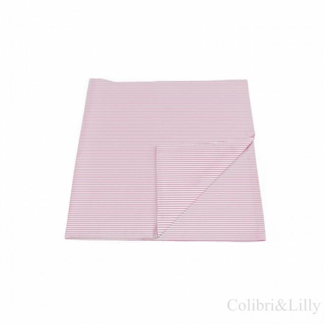 Наволочка в кроватку (цвет: розовая полоска)
