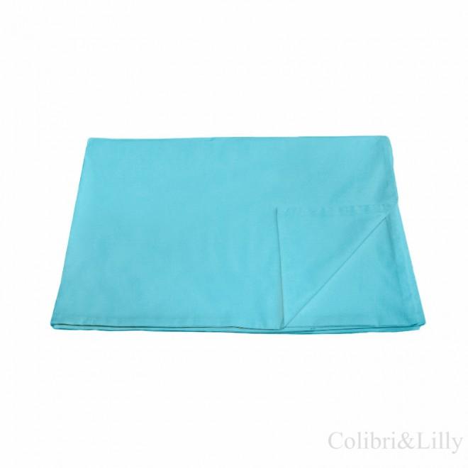 Пододеяльник в кроватку (цвет: небесная бирюза)
