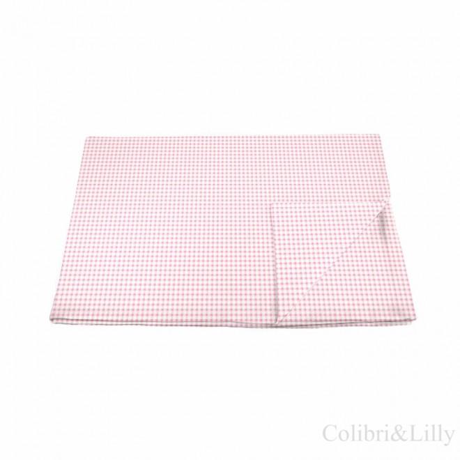 Пододеяльник в кроватку (Цвет: розовая клетка)