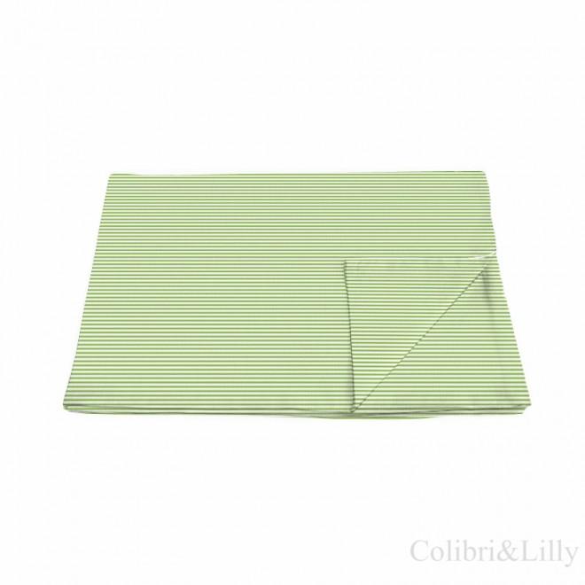 Пододеяльник в кроватку (Цвет: зеленая полоска)