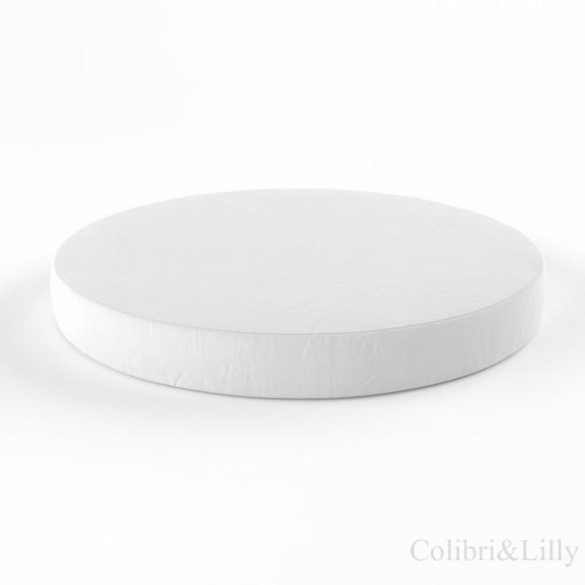 Простыня на резинке в круглую кроватку (Цвет: белый)