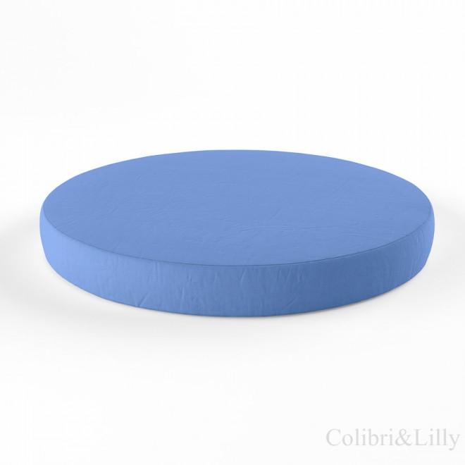 Простыня на резинке в круглую кроватку (Цвет: голубой)
