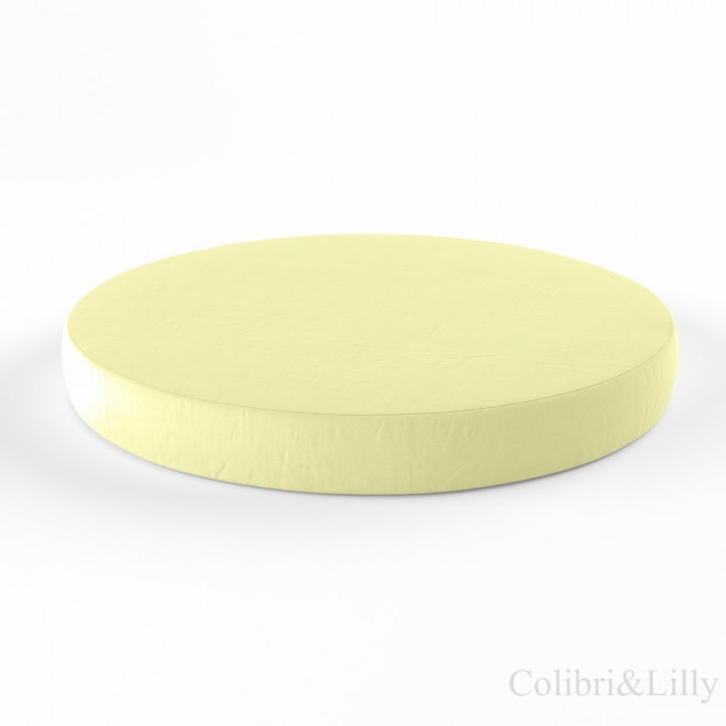 Простыня на резинке в круглую кроватку (Цвет: лимонный)