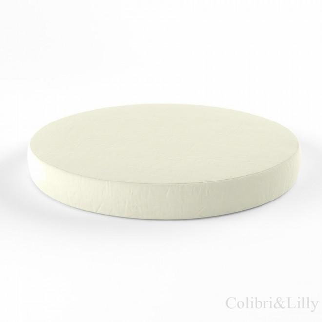 Простыня на резинке в круглую кроватку (Цвет: молочный)