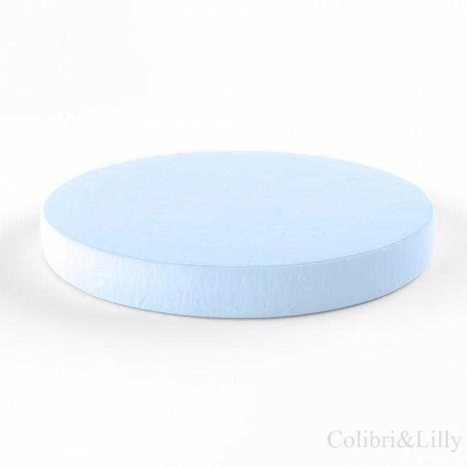 Простыня на резинке в круглую кроватку (Цвет: нежно-голубой)