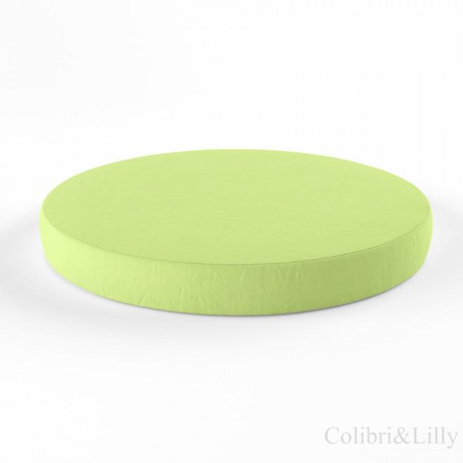 Простыня на резинке в круглую кроватку (Цвет: салатовый)
