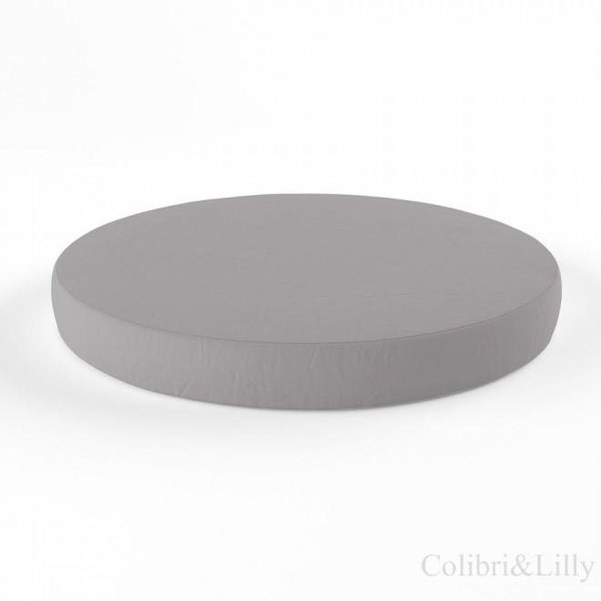 Простыня на резинке в круглую кроватку (Цвет: серый)