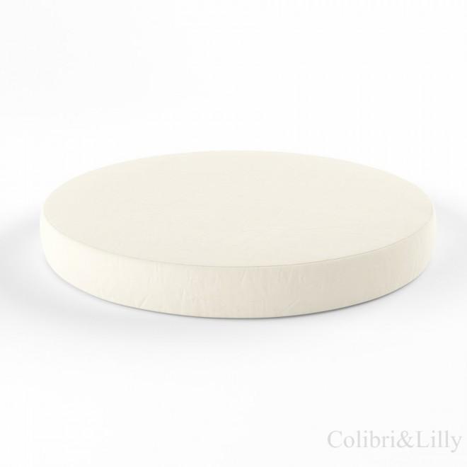 Простыня на резинке в круглую кроватку (Цвет: слоновая кость)