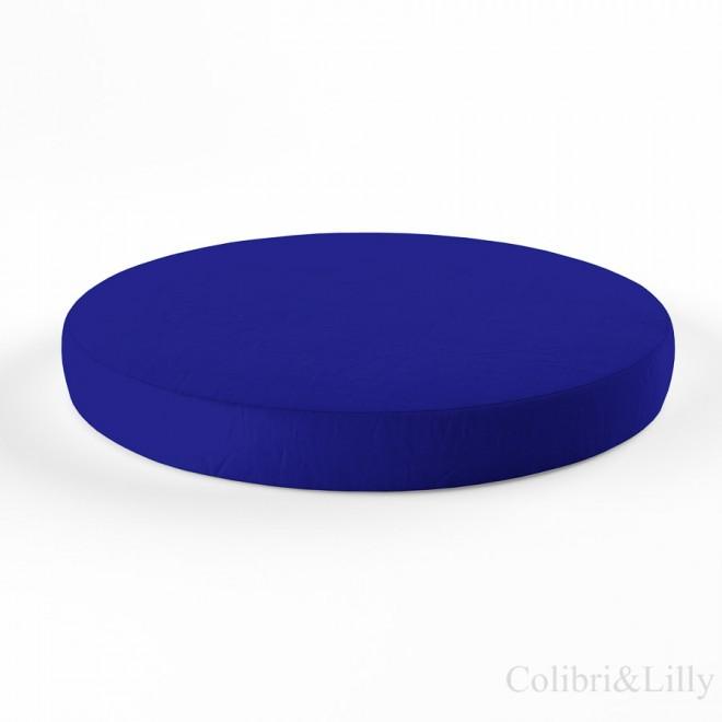 Простыня на резинке в круглую кроватку (Цвет: тёмно-синий)