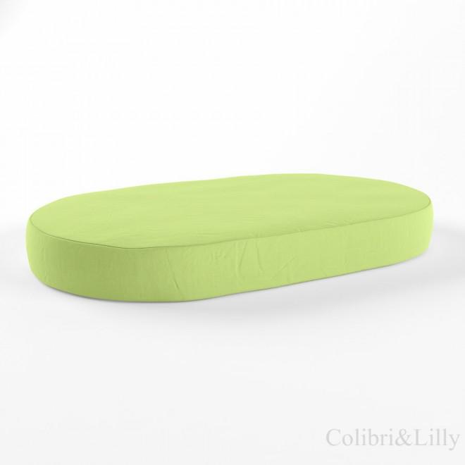Простыня на резинке в овальную кроватку (Цвет: салатовый)