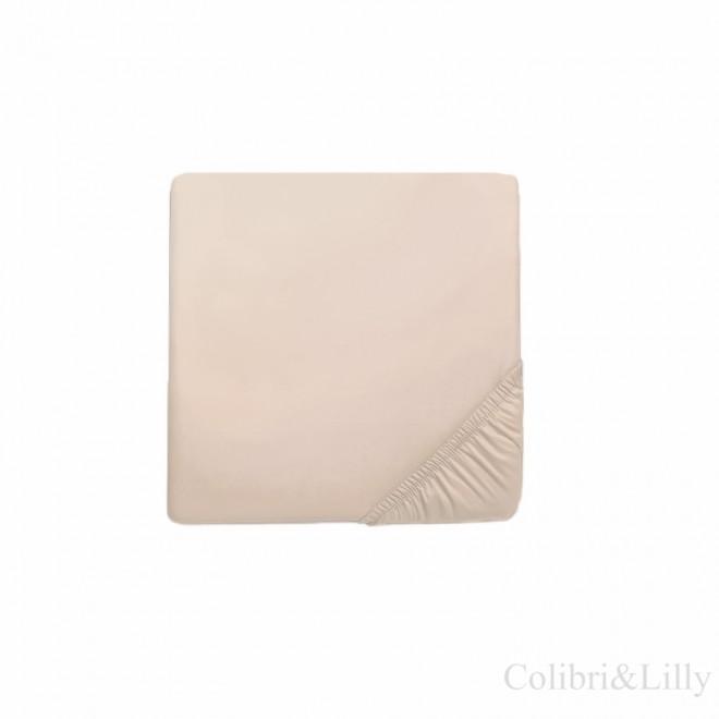Простыня на резинке в кроватку (Цвет: бежевый)