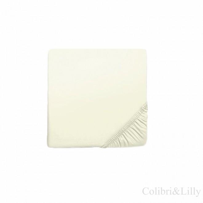Простыня на резинке в кроватку (Цвет: молочный)