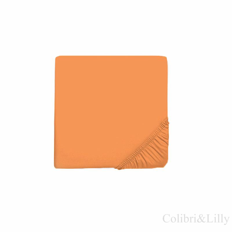Простыня на резинке в кроватку (Цвет: оранжевый)
