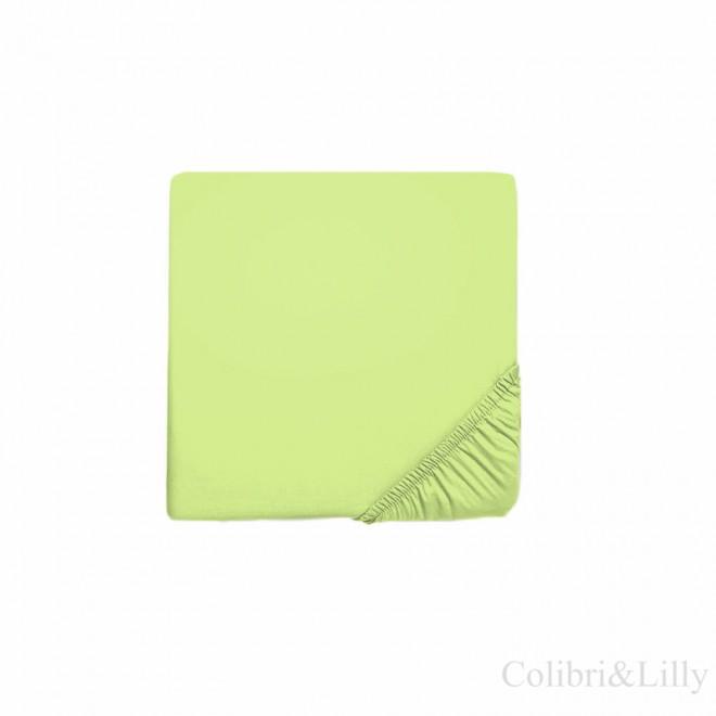 Простыня на резинке в кроватку (Цвет: салатовый)