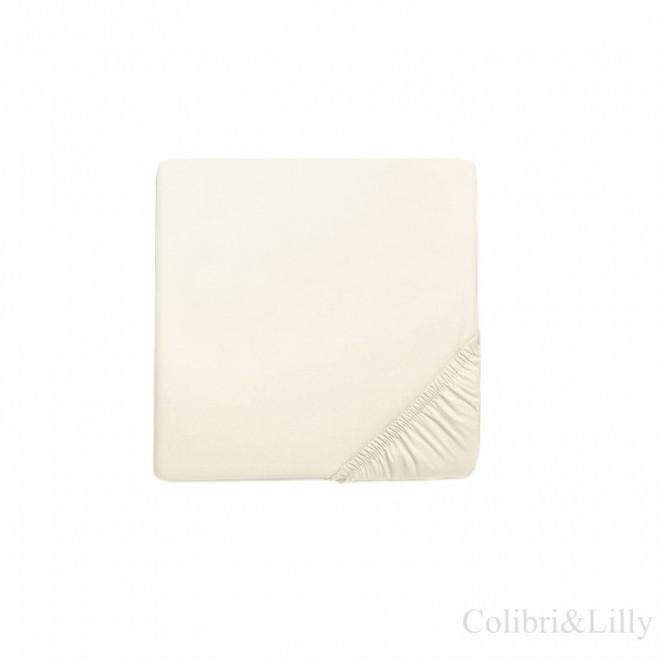 Простыня на резинке в кроватку (Цвет: слоновая кость)