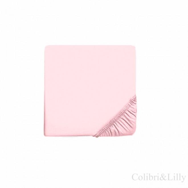 Простыня на резинке в кроватку (Цвет: светло-розовый)