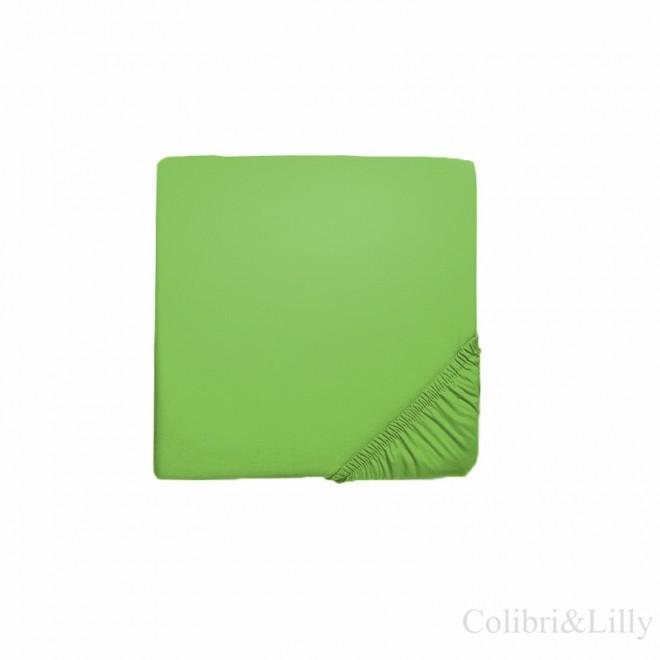 Простыня на резинке в кроватку (Цвет: зеленый)