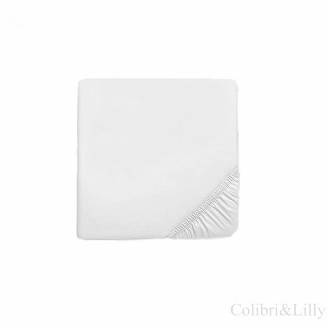 Простыня на резинке в кроватку (Цвет: белый)